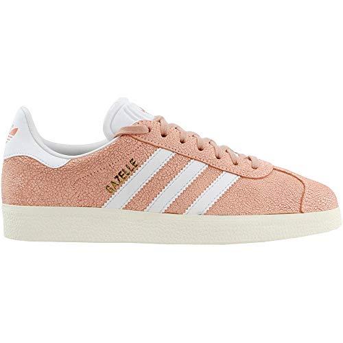 adidas Mujeres Gazelle Lace Up Sneakers Zapatos Casual - Naranja, (Naranja transparente/Blanco nube/Blanco apagado), 36 EU