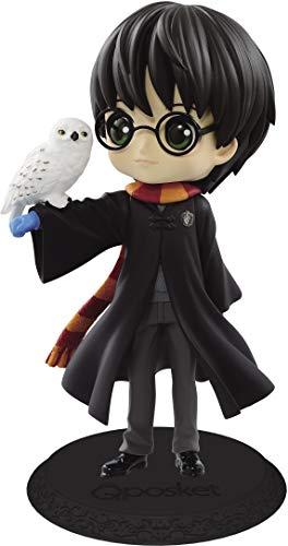 Figura de Colección de Harry Potter QPOSKET II Chaqueta Negra Versión A 14cm Banpresto Búho Hedwig Warner Bros 1