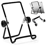VOVIGGOL Adjustable Tablet Stand Holder, Non-Slip Foldable Holder Cradle Fit for 9-12.9' Tablets, iPad, Samsung and Kindle Fire, Display Stand Picture Frame Stand for Photos (Large Black)