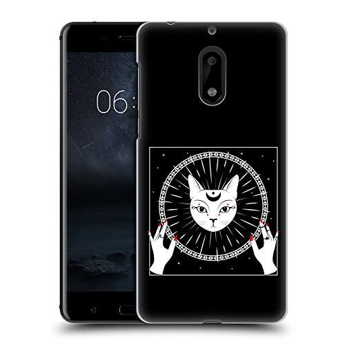 Head Case Designs Ufficiale Haroulita Gatto E Luna Magick - Tarot - Mistico Cover Dura per Parte Posteriore Compatibile con Nokia 6