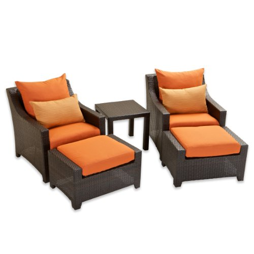 Hot Sale RST Outdoor OP-PECLB5-TKA-K Tikka 5-Piece Club Chairs and Ottomans Set