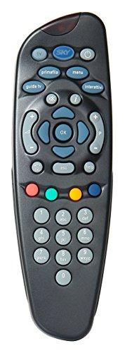 SKY HD, Telecomando Comprensivo di 2 Batterie Duracell, Funziona con il Decoder Sky HD e Televisione, Autentici SKY705