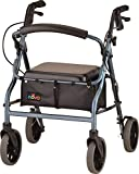 "NOVA Zoom Rollator Walker with 20"" Seat Height, Blue"