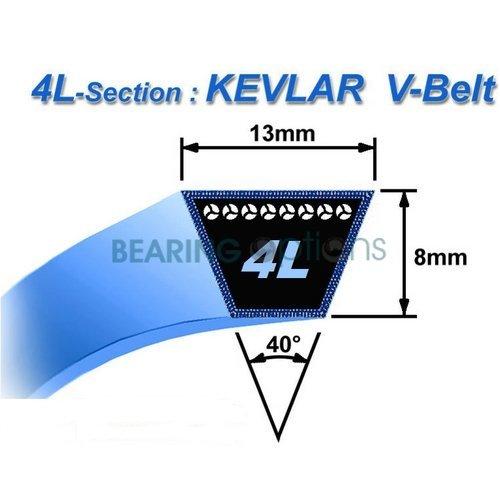 John Deere - Courroie trapézoïdale équivalent à GX20072 GY20570 en Kevlar