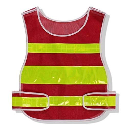 Mr.T reflecterend cardigan vest, reflecterend vest veiligheid nachtbescherming fluorescerende kleding nacht paardrijden waarschuwingspak