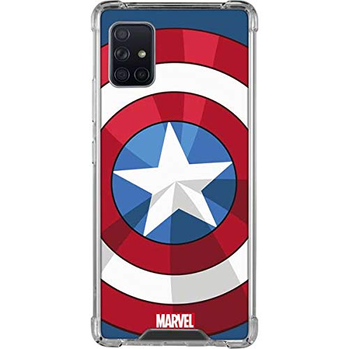 Skinit Clear Phone Case Compatible with Galaxy A51 5G - Officially Licensed Marvel Captain America Emblem Design