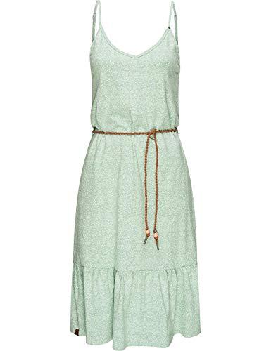 Ragwear Damen Kleid Dress Sommerkleid Jerseykleid Freizeitkleid Entie Grün M20 Gr. M
