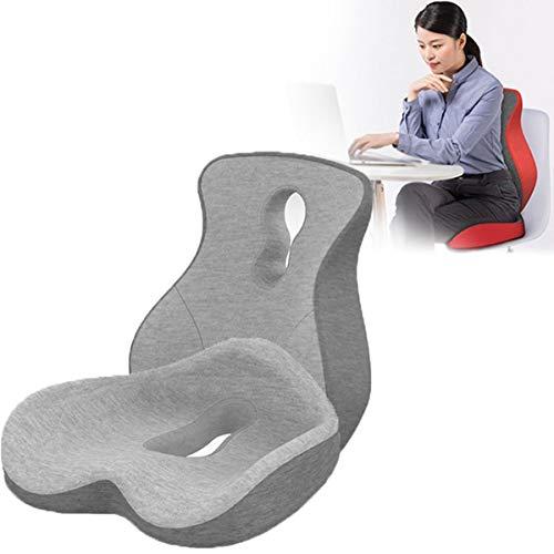 Cojín de Asiento de Espuma Viscoelástica - Donut Pillow - Cojin Coxis de Espuma - Almohada Silla para Ciática, para Soporte en Silla de Escritorio de Oficina (Color : B)