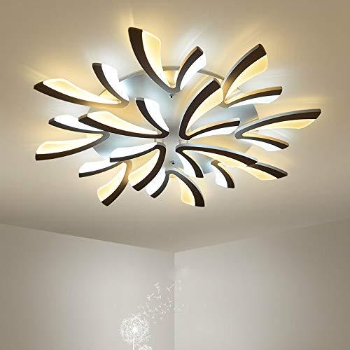 Moderne minimalistische wit ijzeren woonkamer LED-plafond lamp Scandinavische persoonlijkheid creatieve V-combinatie acryl plafondlampen