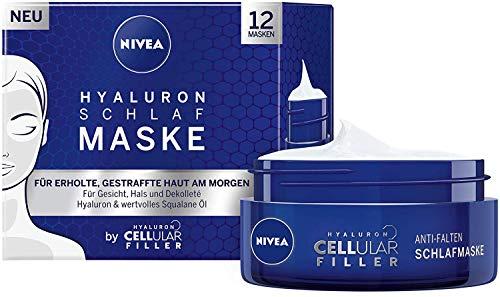 NIVEA Hyaluron Cellular Filler im 1er Pack (1 x 50 ml), straffende & pflegende Gesichtsmaske, Gesichtspflege für geschmeidige Haut am Morgen