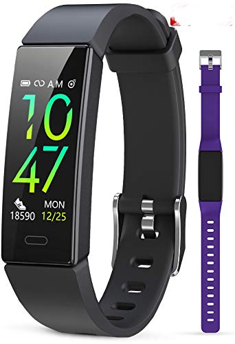 JAZIPO Fitness Armband mit Blutdruckmessung Pulsmesser, Fitness Tracker Uhr Wasserdicht IP68 Schrittzähler Uhr Stoppuhr Sport GPS Aktivitätstracker Schlafüberwachung Anruf SMS für Kinder Damen Männer