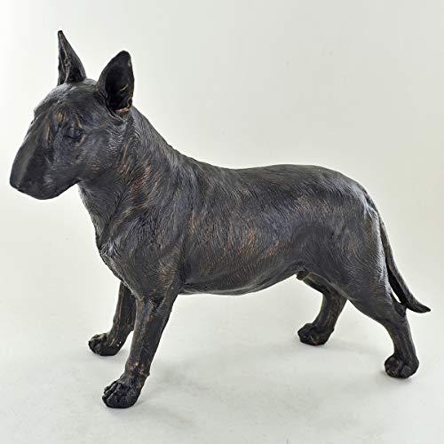 Bullterrier Bronze-Skulptur, stehend, 19 cm hoch, groß