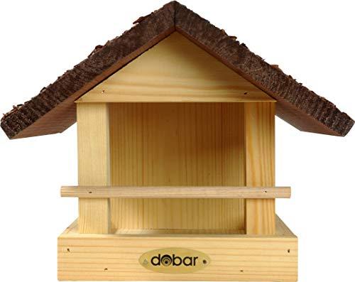 dobar 38120FSCe Vogelhaus klein aus Holz mit Rindendach, 20 x 22.5 x 18 cm - 2