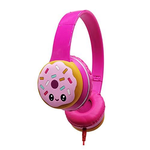 YPJKHM - Auriculares infantiles con micrófono y auriculares de música para ordenador, diseño de dibujos animados