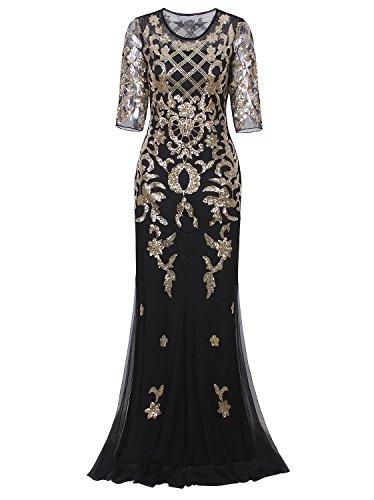 Kate Kasin Sequins Full Length Dress Sleeveless Sexy Bride Dress Silver Size 10 KK199