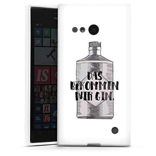 DeinDesign Silikon Hülle kompatibel mit Nokia Lumia 735 Hülle weiß Handyhülle Gin Statement Feiern