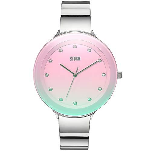 STORM London Ostele Lazer Pink, Damenuhr, Analoguhr, Mineralglas, Edelstahlgehäuse, 3 bar Wasserdicht, 47401/LPK