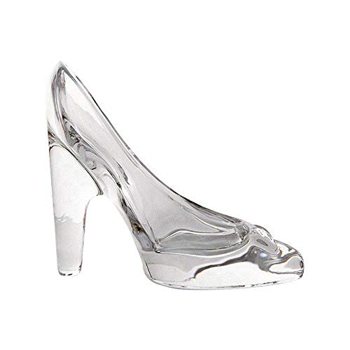 Fablcrew Cinderella Shoe Transparent Crystal Glass High Heels Shoe Pendant Glass Slipper Ornaments Wedding Party Decoration Gift for Children Girl Woman Bride