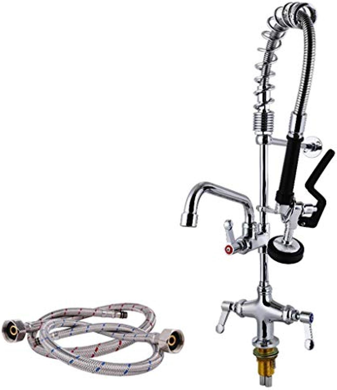 Küchen-Wasserhahn, alle Kupfer-Küchen-Wasserhahn Mini Spring Hochdruck-und kalte Mischwasser-Küche Wasserhahn