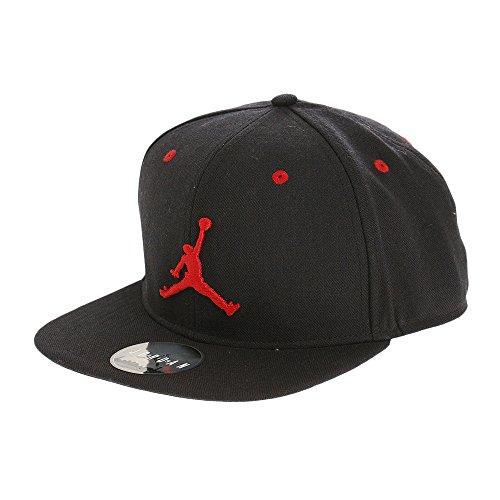 Nike Michael Jordan Jumpman Snapback Gorra, Hombre, Negro (Negro/Gym Rojo), Talla Única