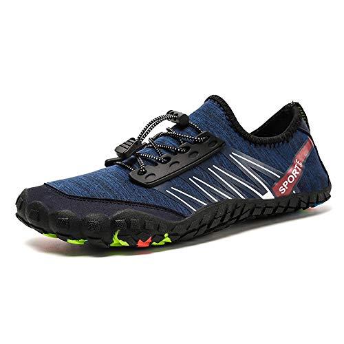 Zapatos de Agua para Mujer Hombre Zapatos de agua zapatos de playa al aire libre de los hombres de la piscina de buceo senderismo zapatos de mujer para Nadar Surf Snorkel ( Color : Blue , Size : 40 )
