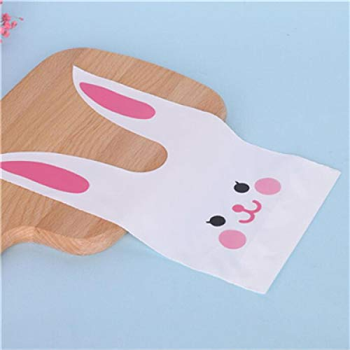 Easter gift bag 10pcs cute rabbit ear biscuit gift bag, used for Easter decoration, candy, biscuit, snacks, baking packaging, wedding supplies gifts