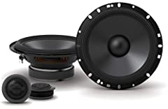 """Features: Component speaker system includes 2 woofers and 2 tweeters, 6-1/2"""" carbon fiber-reinforced plastic woofer cone with specialized rubber surround, 1"""" silk dome tweeter with inline crossover, Handles up to 80 watts RMS (240 watts peak power), ..."""