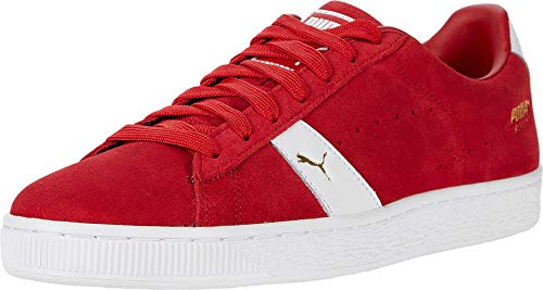 PUMA Mens Suede New Classic Casual Sneakers, Red, 11