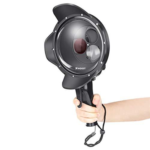 Fine for Go Pro Hero7 6 5 Diving Ball Mask Diving Waterproof Case,Shooting Diving Waterproof Case Rotatable Filter (Black)