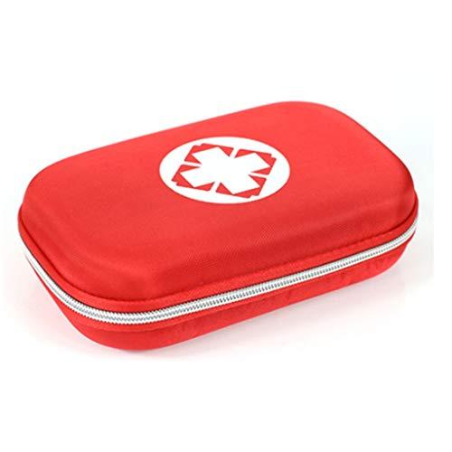 Zhangmeiren Botiquín De Primeros Auxilios para El Automóvil Familiar Kit De Primeros Auxilios Portátil De Viaje Terremoto Botiquín De Emergencia para Automóvil Familiar (Color : Red)