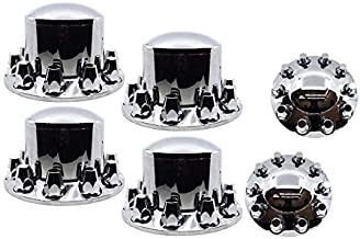 DAWSON PARTS Complete Chrome AXLE Cover KIT with Standard Lug NUT Covers