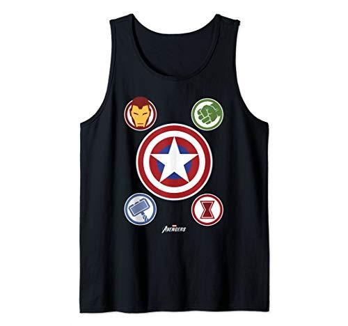 Marvel Gamerverse Avenger Shield Emblems Collage Tank Top