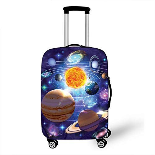 Trolley Case Protective Cover, DOTBUY 3D Print Premium Travel Suitcase Protector Elastic Anti-Scratch Dustproof Luggage Sleeve Cover Elasticized Washable (Cosmic Stars,M (22-24 inches))