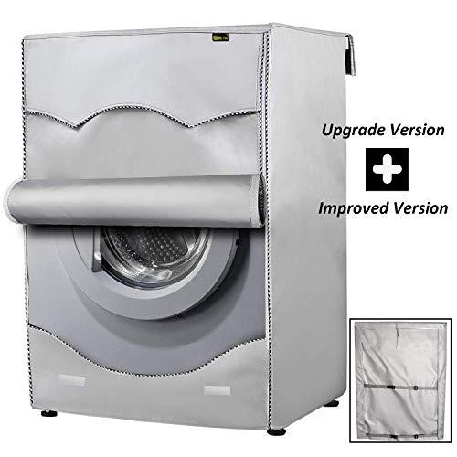 [Mr.You]Wasmachinehoes waterbestendig zonwerend en stofbestendig voor het laden van de voorkant voor thuis, in de wasmachine, zilverkleurig