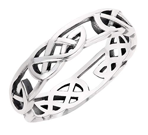CloseoutWarehouse Sterling Silver Celtic Wicca Pagan Ring Size 11
