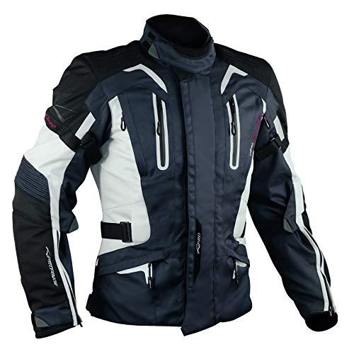 A-Pro Motorrad Jacke Textiljacke Touring Protektoren Thermofutter dunkel blau XL