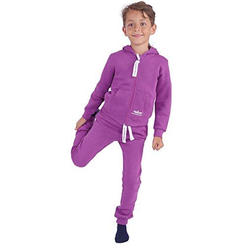 LIL'Finch 91Y2 Kinder Trainingsanzug Jungen Mädchen Kids Lila Gr. 122/128