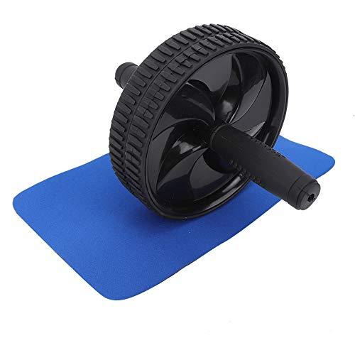minifinker Rueda de Ejercicio fácil de Instalar, Rueda AB de 2 Colores, diseño Desmontable Que Reduce el Peso para Evitar Las Manos(Black)
