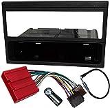 AERZETIX - Kit de Montaje de Radio de Coche estándar - 1DIN - Marco, Cable Enchufe y Adaptador de Antena - Negro - C11610A
