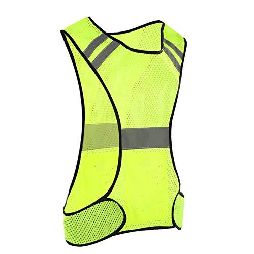 DAUERHAFT 200 Metros de Distancia Reflectante Chaleco de Seguridad Chaleco Reflectante a Prueba de Sudor para Deportes al Aire Libre por la Noche(Fluorescent Yellow)