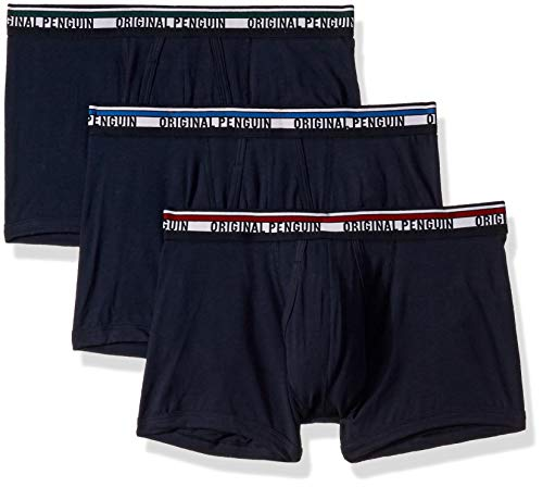 Original Penguin Men's Cotton Trunk Underwear, Multipack, Sky Captain Blue, XL