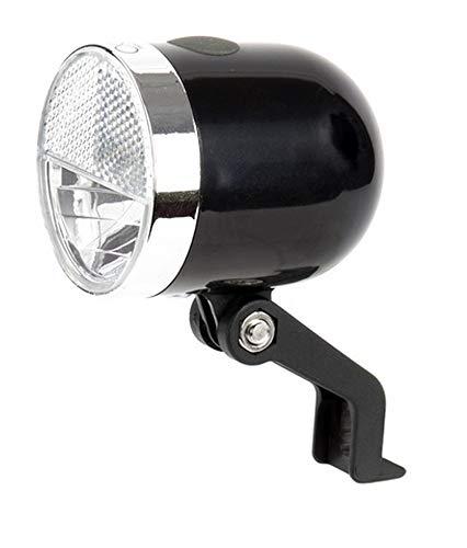 IkziLight Scheinwerfer Nero, Retro 1W-LED + Reflector, Schwarz, S