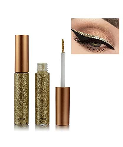 Emirde Liquid eyeliner set Glitter Liquid Eyeliner Waterproof Shimmer Silver Gold Metallic Colorful Eyeliners Eyeshadow Makeup #06