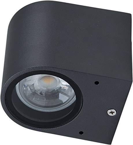 Wandleuchte Lampe Außenleuchte Abajo für Energiesparlampe / LED Haus Wand Aluminium graphitfarben
