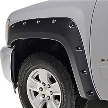 KML Black Fender Flare Pocket Rivet Style Styleside Fit for 07-13 Chevrolet Silverado 1500/2500/3500 (6.5 & 8 ft Bed)