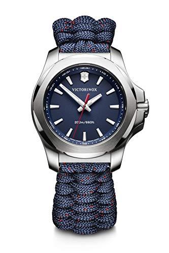 Victorinox Swiss Army Women's I.N.O.X. Stainless Steel Swiss-Quartz Watch with Nylon Strap, Blue, 18 (Model: 241770)