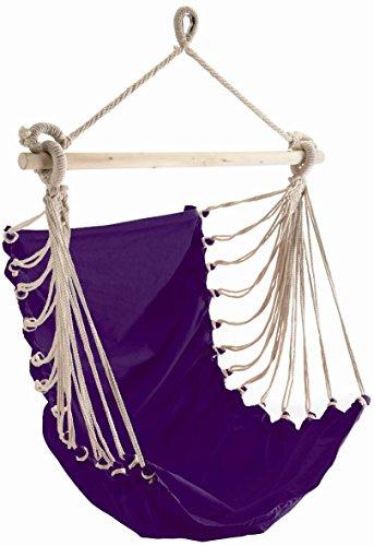 Conacord Hängesessel–Der Weg der Baumwolle Violett 85x 160cm, dass Blei 110kg Kapazität