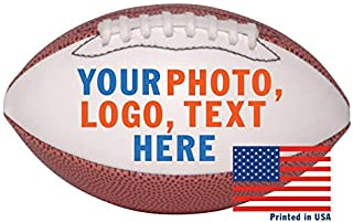 Custom Personalized Mini Football - 6 Inch Football - Ships in 3 Business Days, High Resolution Photos, Logos & Text on Football Balls - for Trophies, Personalized Gifts