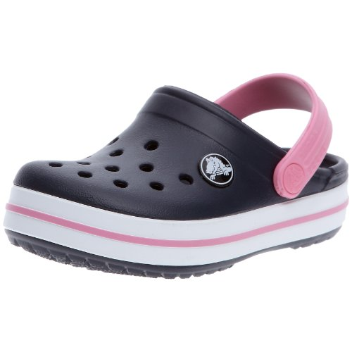 Crocs Crocband Kids, Zuecos Con Correa Infantil, Azul (Navy/Pink Lemonade), 32-33 EU