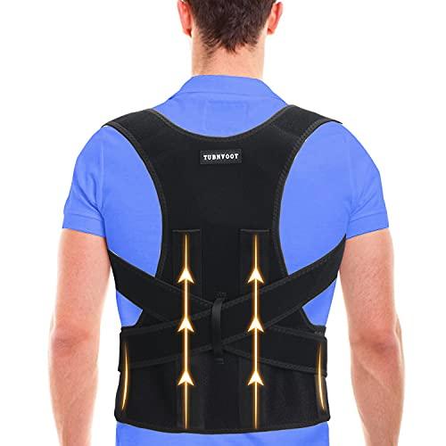 "Back Brace Posture Corrector For Women and Men - Upper Back Straightener Posture Corrector Support - Neck,Shoulder,Back Pain Relief and Improve Posture - Lumbar Adjustable & Breathable (XL(39""-45""))"